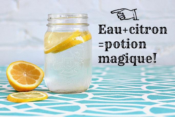 Jus de citron et eau